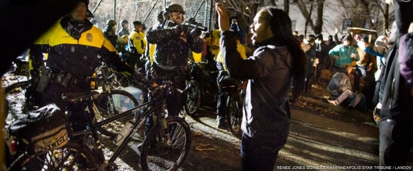 Officer points gun in face of Jeremiah Ellison son of Rep. Keith Ellison as he stands unarmed with hands up