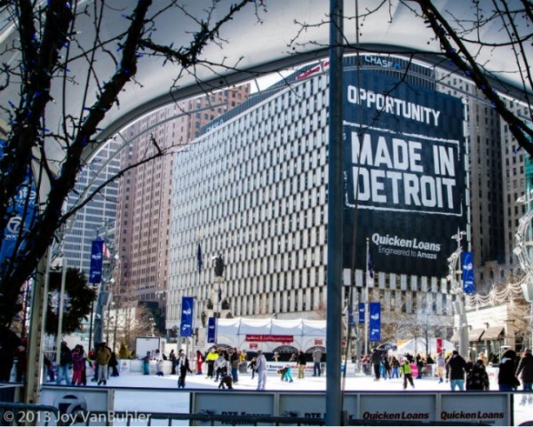 Detroit's downtown section is in the process of rebuilding, which includes an increase in surveillance initiated by Dan Gilbert, the founder of Quicken Loans.